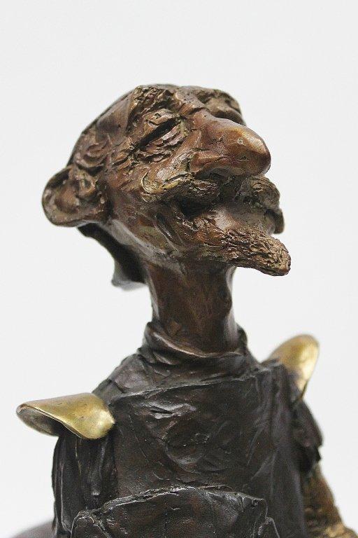 "83: Charles Bragg Bronze Sculpture ""Don Quixote"" - 3"