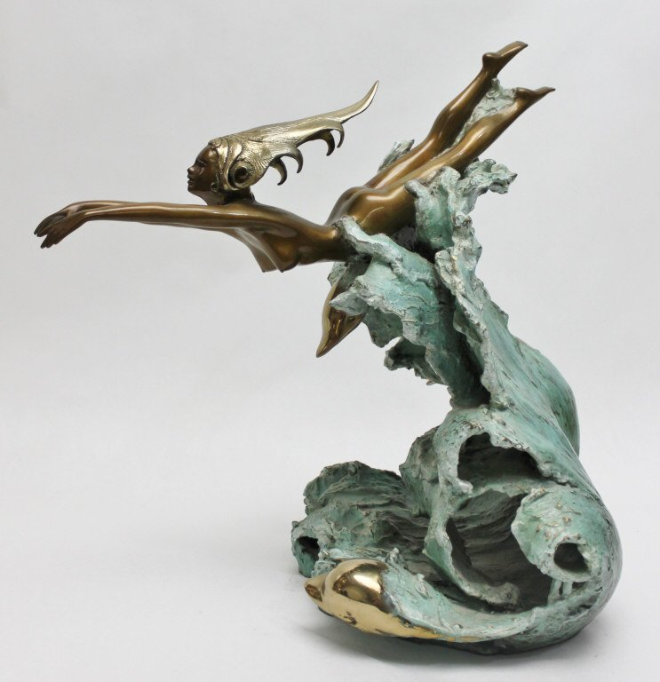 "86: Angelo Basso Bronze Sculpture, ""Companions"" - 2"