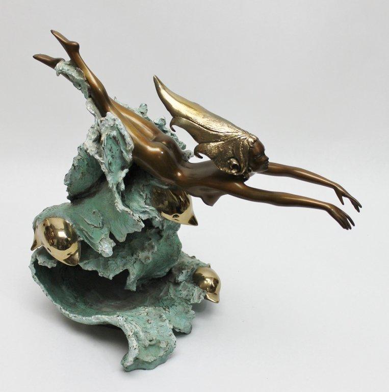 "86: Angelo Basso Bronze Sculpture, ""Companions"" - 5"