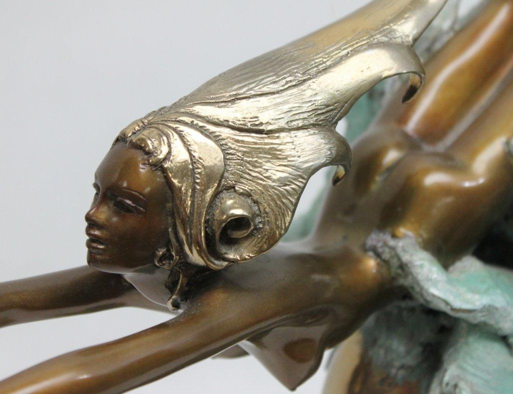"86: Angelo Basso Bronze Sculpture, ""Companions"" - 6"