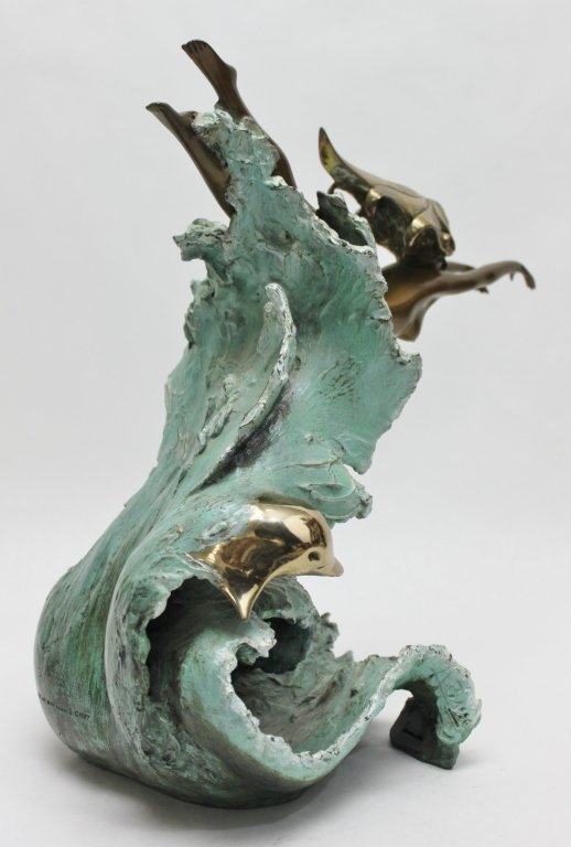 "86: Angelo Basso Bronze Sculpture, ""Companions"" - 8"