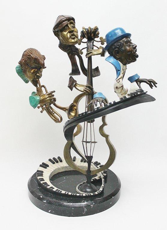 "88: Paul Wegner ""Sing 'Em Low"" Bronze Sculpture"