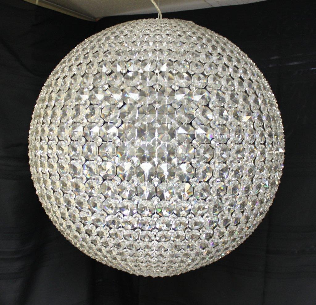"118: Schonbek  Swarovski Crystal ""da Vinci"" Chandelier - 2"