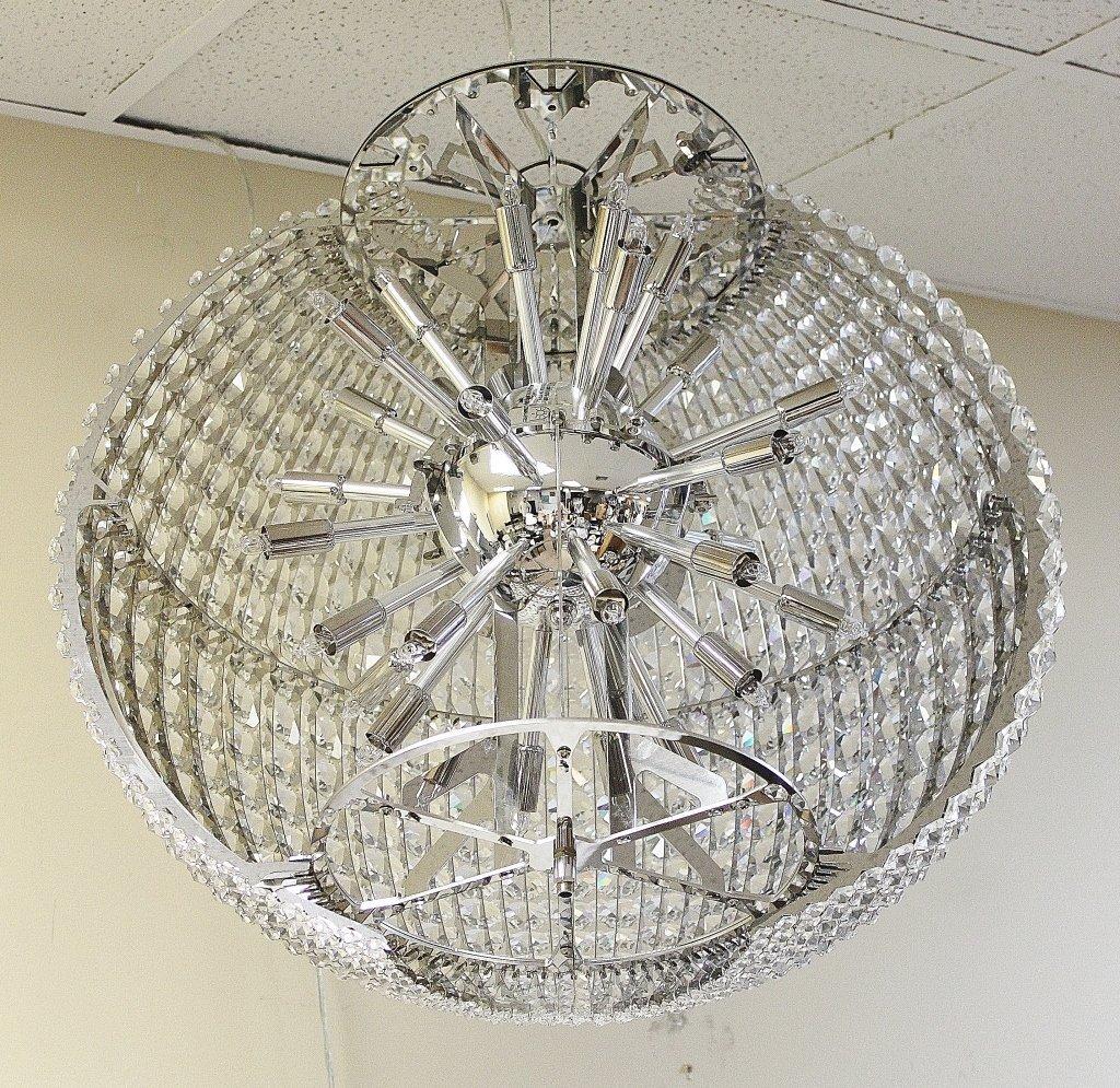 "118: Schonbek  Swarovski Crystal ""da Vinci"" Chandelier - 5"
