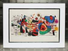 155 Joan Miro Lithograph Signed Untitled Abstract