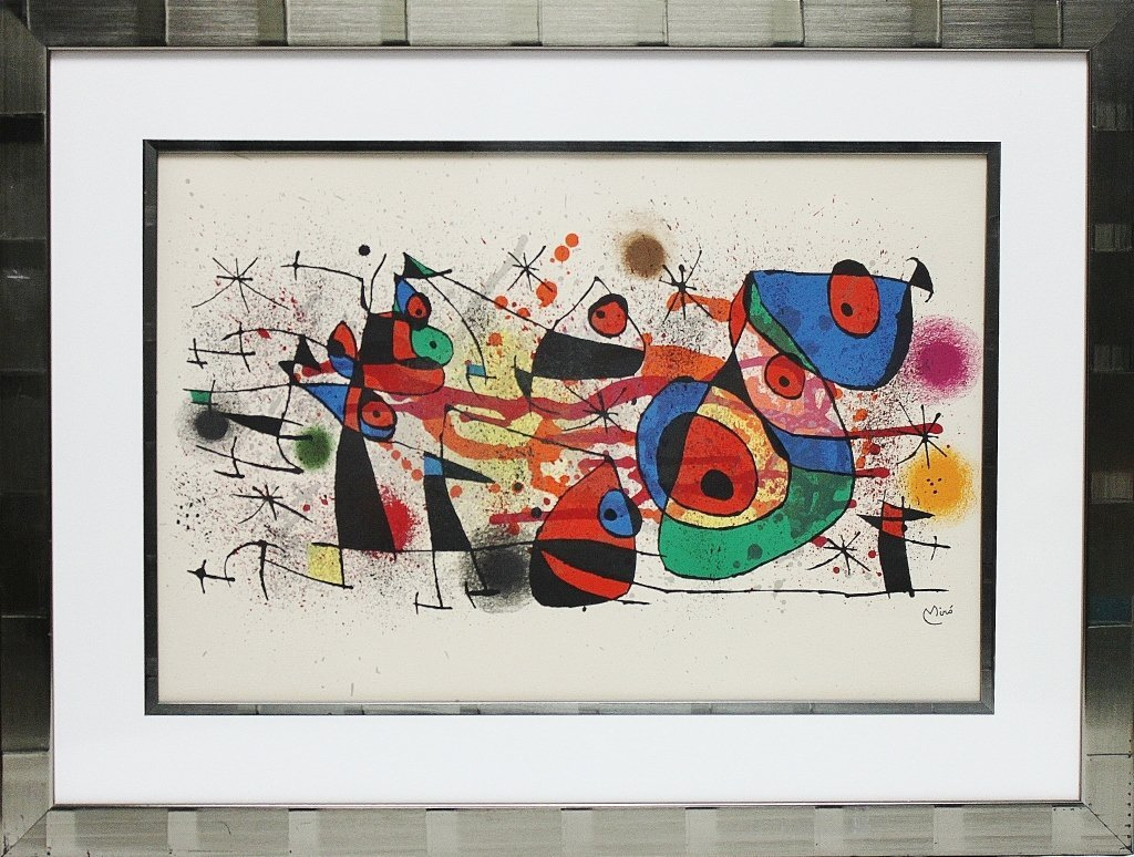 155: Joan Miro Lithograph, Signed, Untitled Abstract