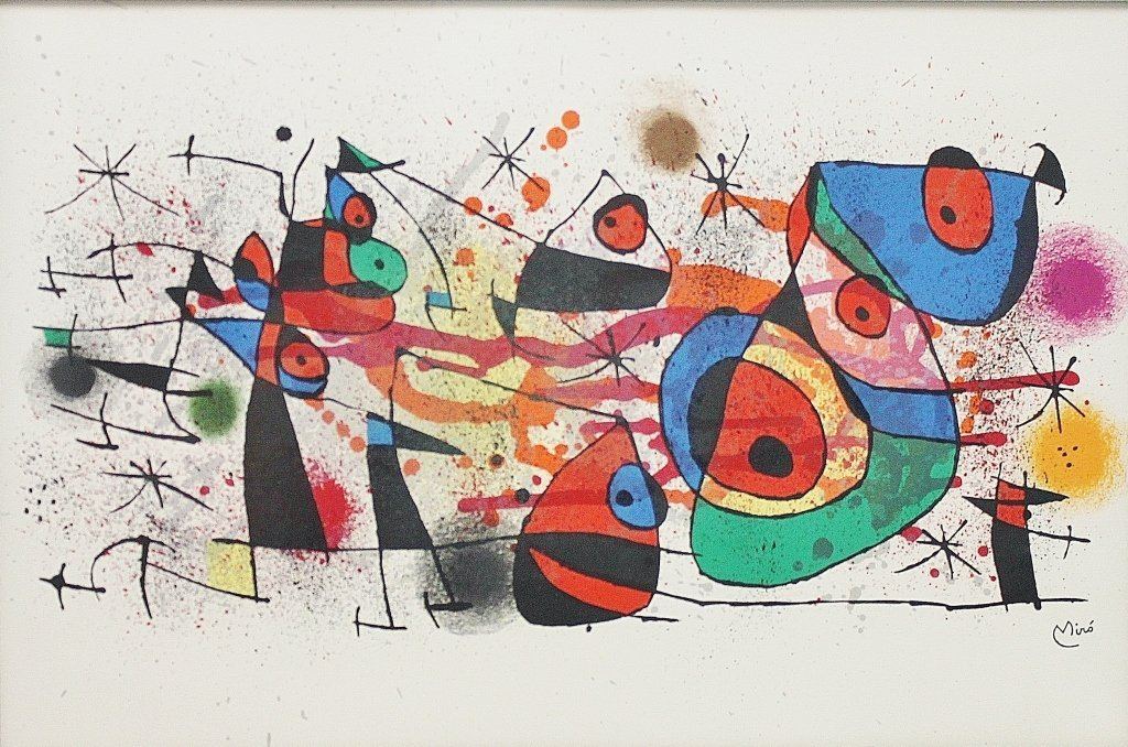 155: Joan Miro Lithograph, Signed, Untitled Abstract - 2