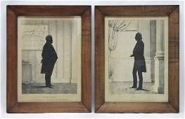310: (2)1944 Silhouette Prints of Henry James, Clinton