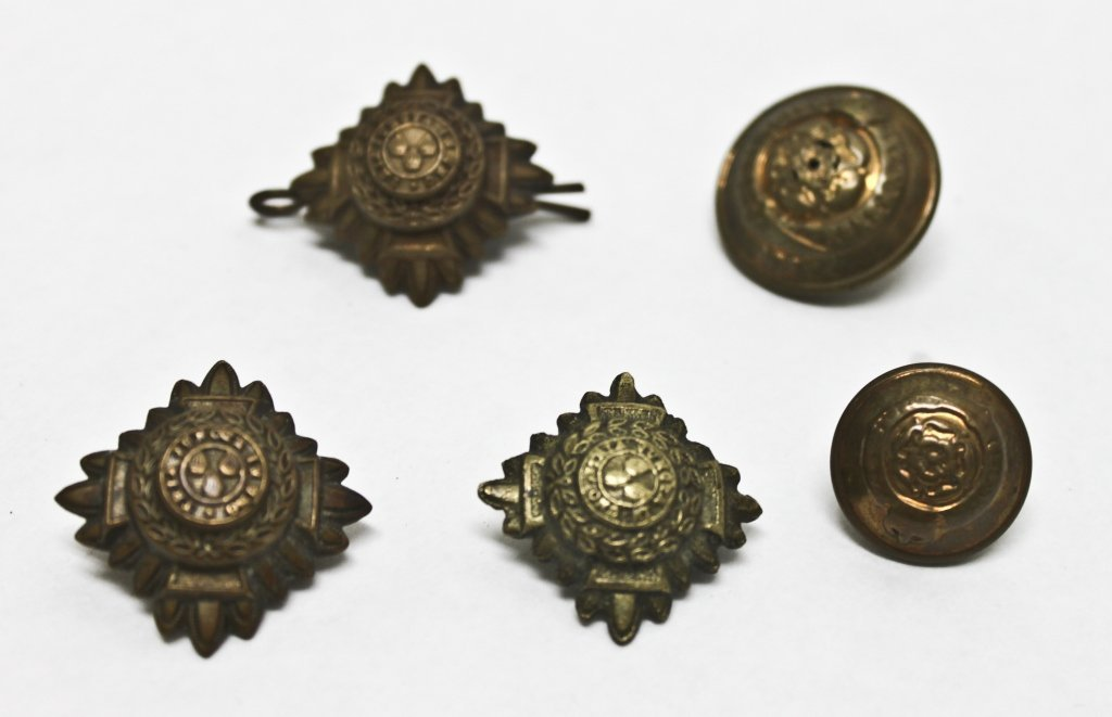 318: Lot of (5) 19th Century Scottish Military Buttons