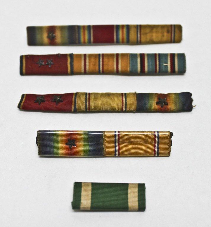 321: (5) World War II Campaign Ribbons