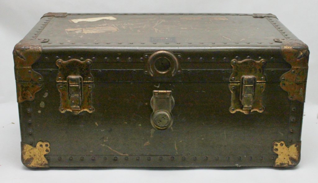 324: WWI or WWII Military Trunk / Foot Locker