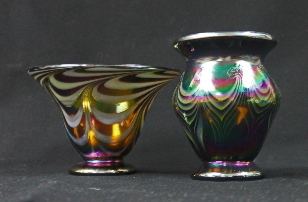 13: (2) Vandermark Art Glass