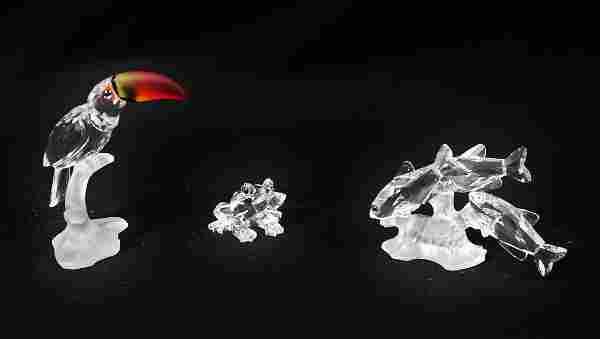 (3) Swarovski Crystal Figurines