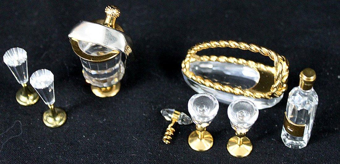 336: (2) Swarovski Crystal Memories Champagne and Wine - 3