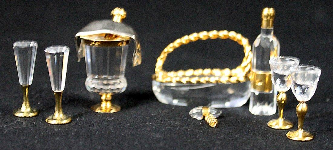336: (2) Swarovski Crystal Memories Champagne and Wine - 5