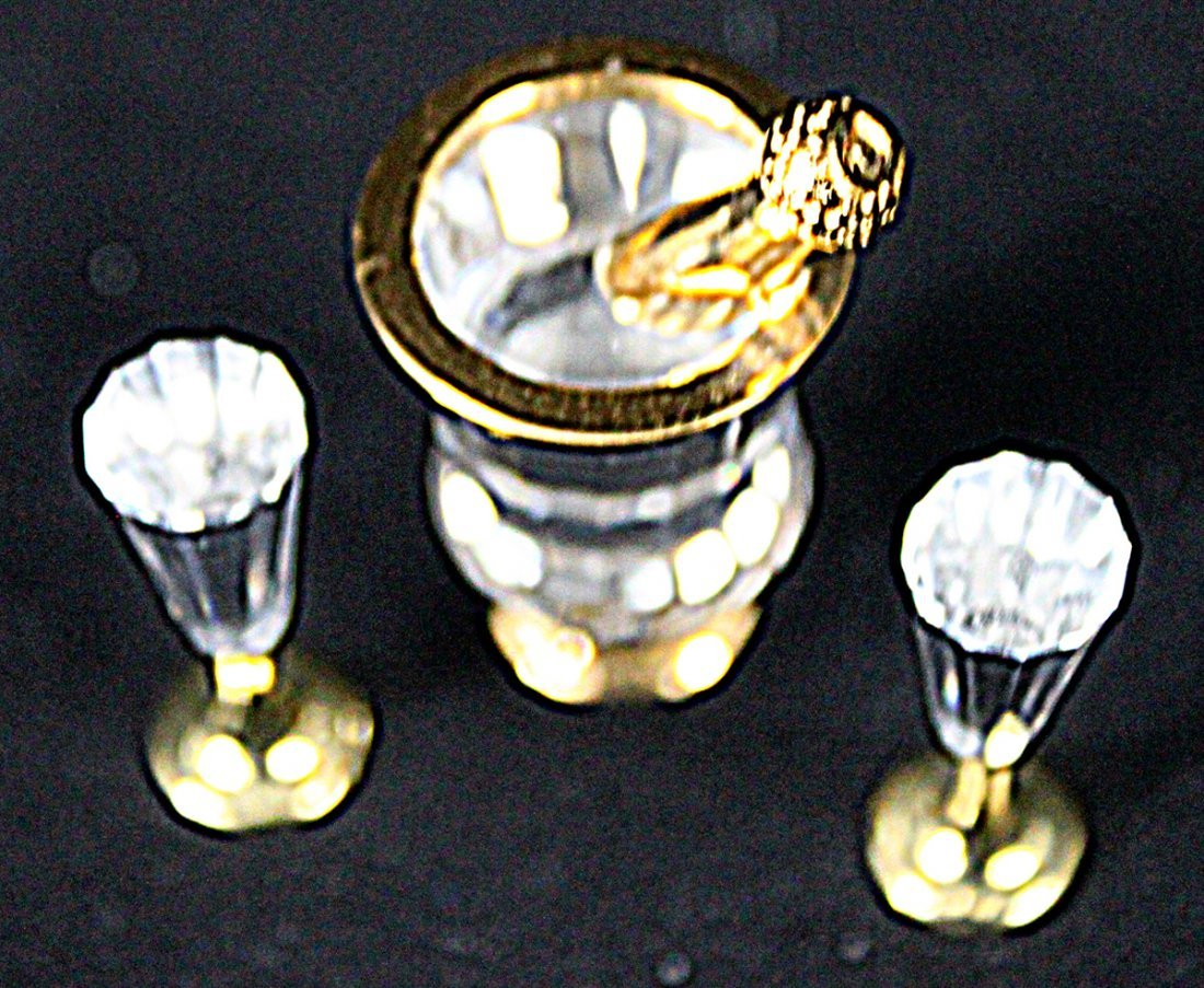 336: (2) Swarovski Crystal Memories Champagne and Wine - 7