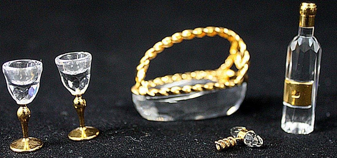 336: (2) Swarovski Crystal Memories Champagne and Wine - 8