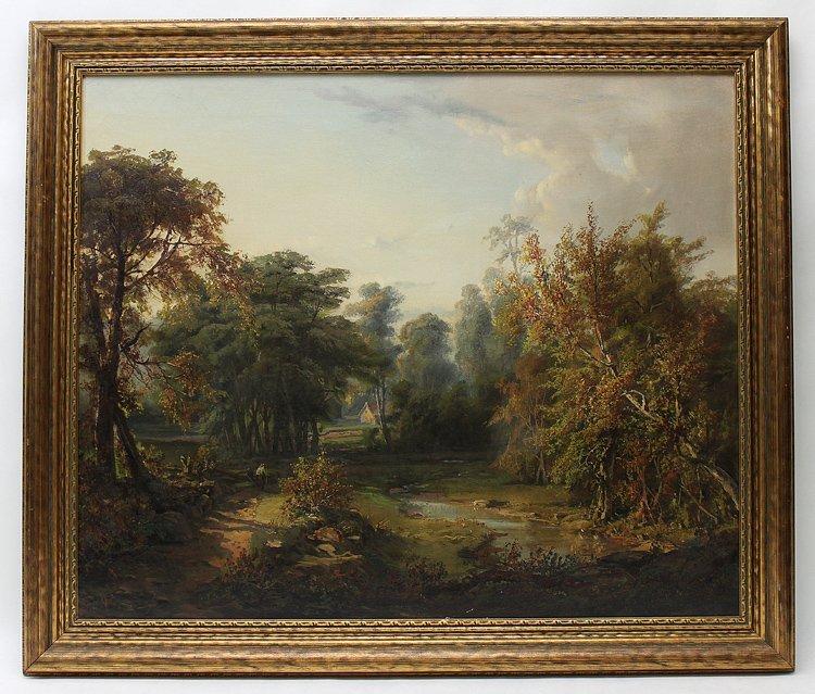 220: Paul Ritter Oil on Canvas Landscape