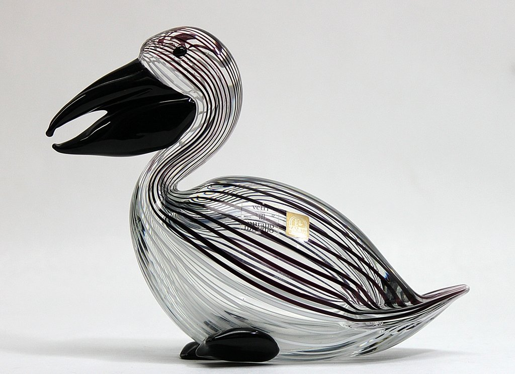 12: Zanetti Murano Art Glass Pelican