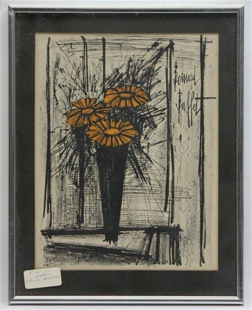 Miraculous 59 Bernard Buffet Flower Lithograph Download Free Architecture Designs Ferenbritishbridgeorg