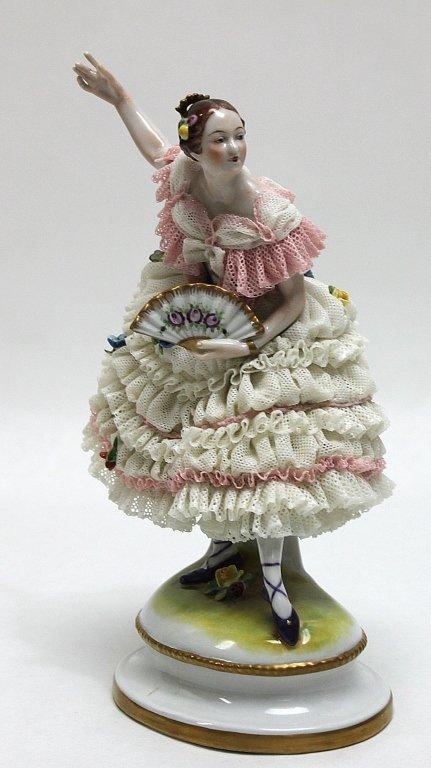 247: Dresden Porcelain Lace Ballerina Figurine