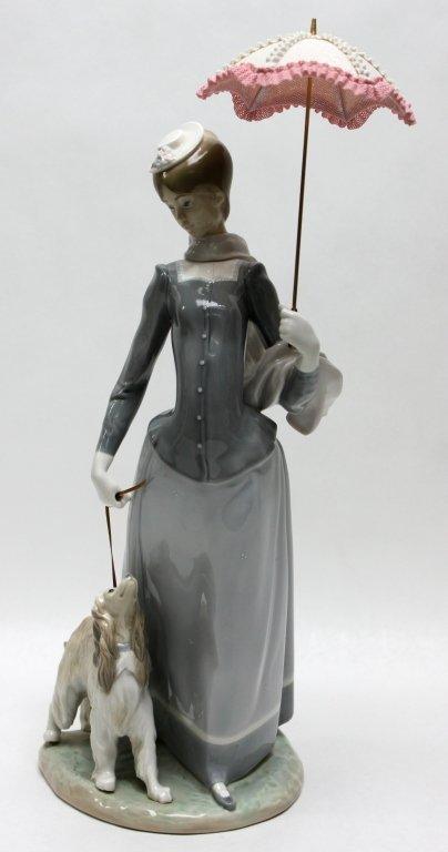 "287: Lladro Porcelain Figurine Woman With Shawl"""""