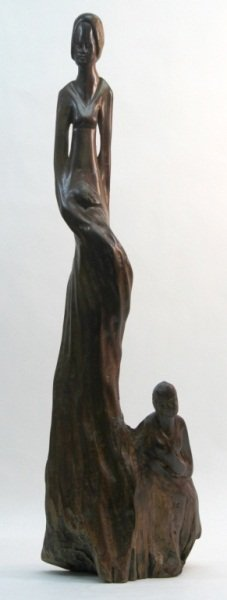 21: African Familial Wood Carving