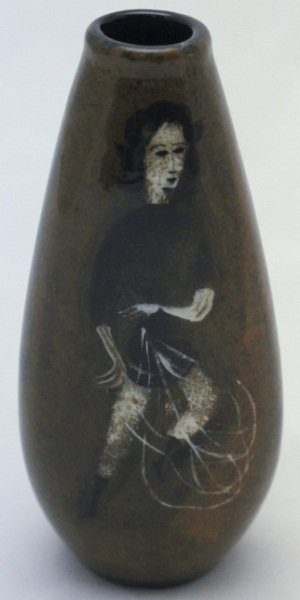 Polia Pillin Hand Painted 3-sided Vase