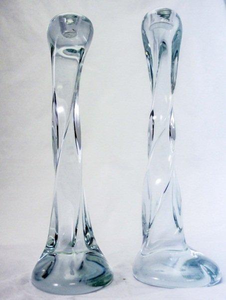 R. Amatra Modern Glass Candlesticks