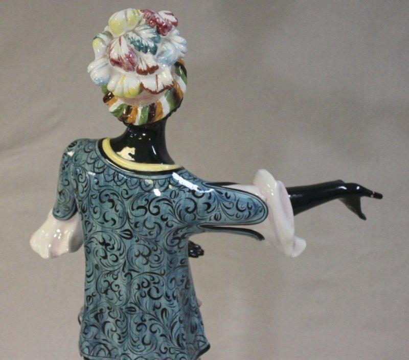 Italian Blackamoor Woman Garden Statue - 7