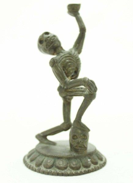 Bronze Statue of a Skeleton
