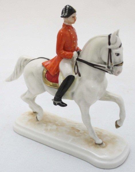 Goebel Lichtenstein Porcelain Soldier on Horse