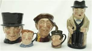 (5) Royal Doulton Character Mugs