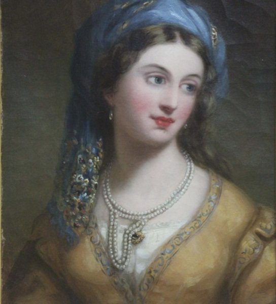 Schultz Oil on English Canvas of Woman