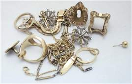 Lot of Scrap 14K Gold Weighs 49 DWT