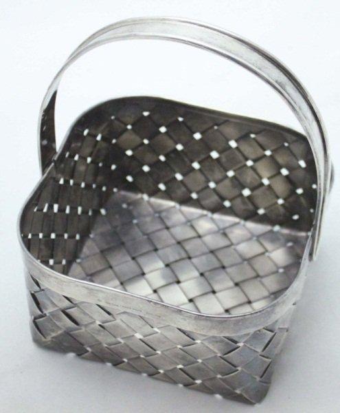 Large Cartier Handmade Sterling Silver Basket