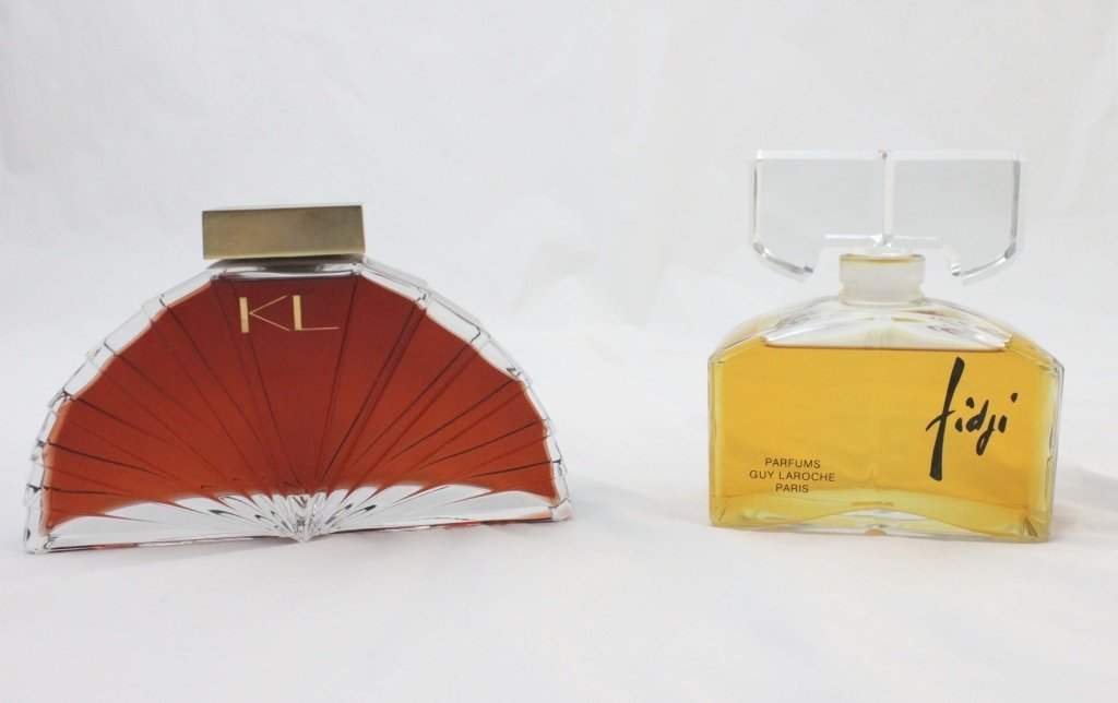 (2) Large Karl Lagerfeld and Guy Laroche Parfums