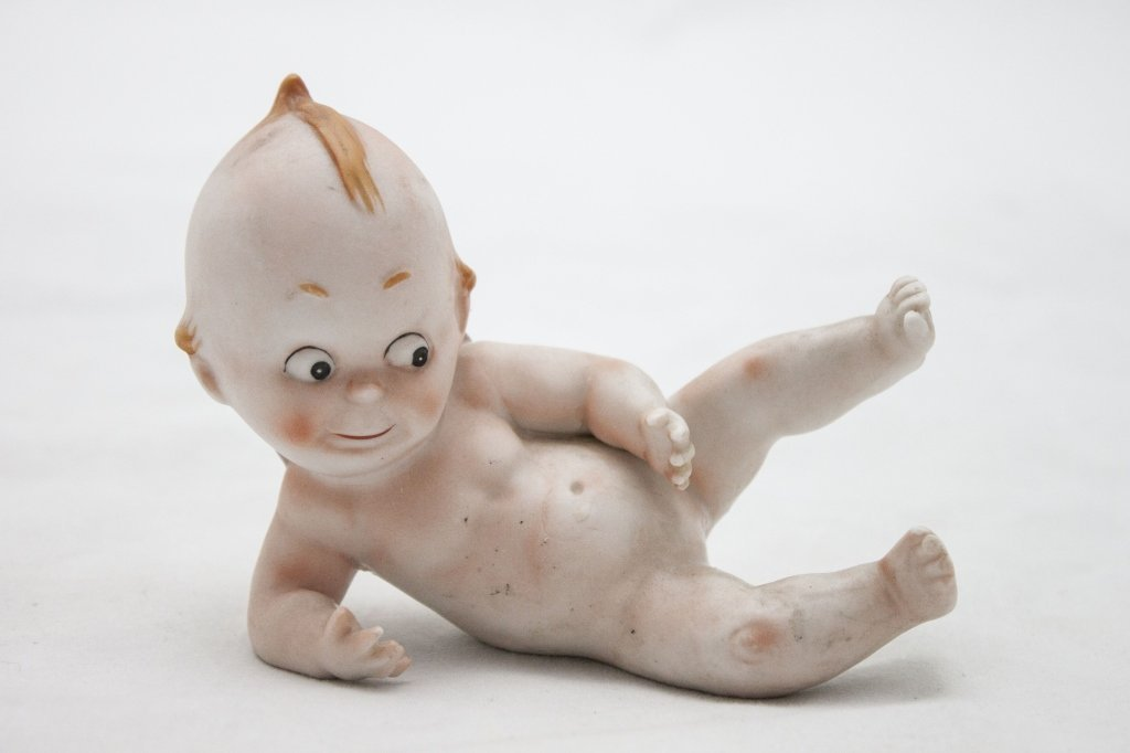 1920's Bisque Porcelain Piano Baby Cupie Doll
