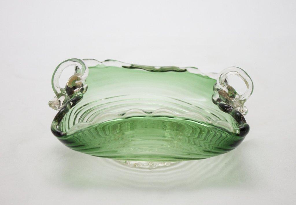 "Signed Art Glass Timo Srapaneva"" Candy Dish"""