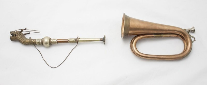 Federal Bugle Horn and Hunter's Horn