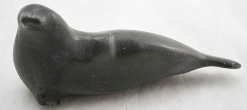 Inuit Canadian Eskimo Art Hand Carved Seal