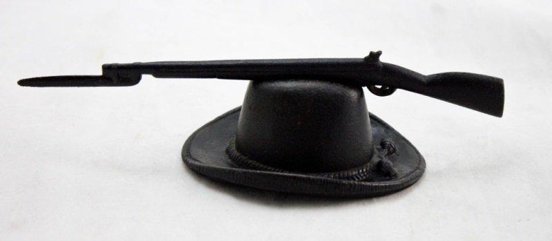 Fannon's Fule Cast Iron Campaign Hat & Musket