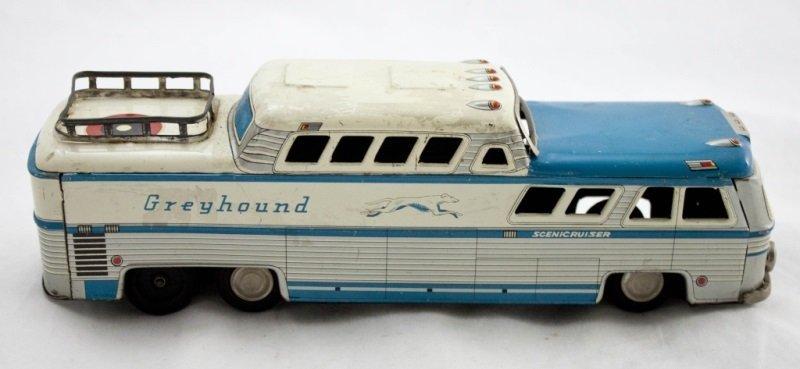 Vintage Tin Toy Of Greyhound Scenicruiser 3446