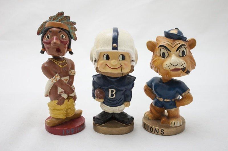 Set of Three Vintage Nodder / Bobbleheads
