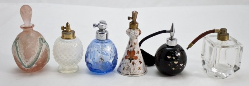 Collection Of 5 Perfume Atomizers & 1 Bottle