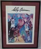 Neiman Chicago Bulls Poster Signed Michael Jordan