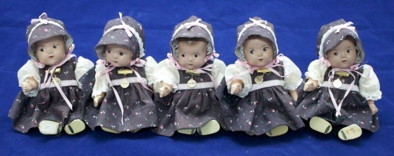 Set of Alexander Dionne Quintuplet Baby's