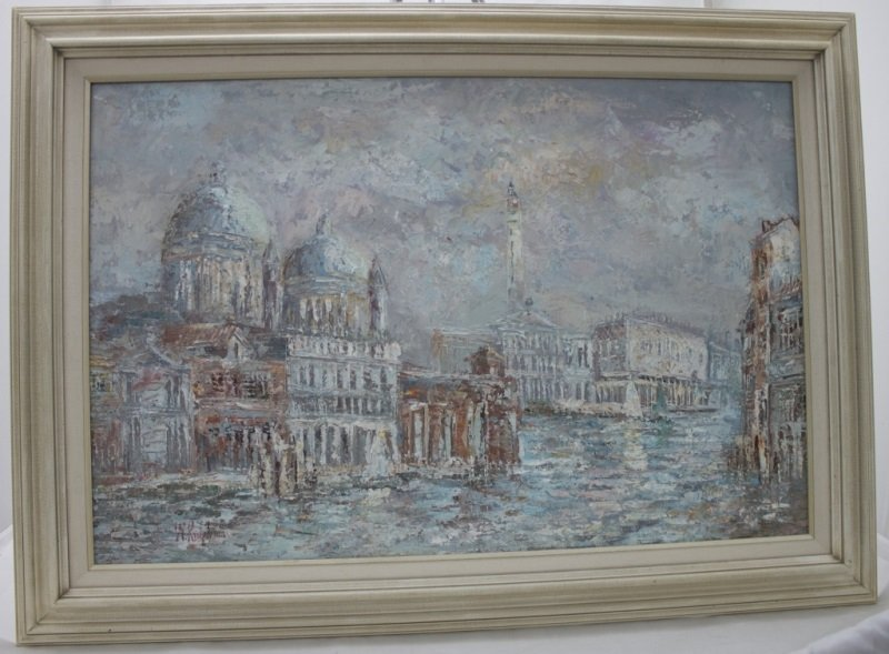 Impressionist Painting of Venice sg W. Knight - 5