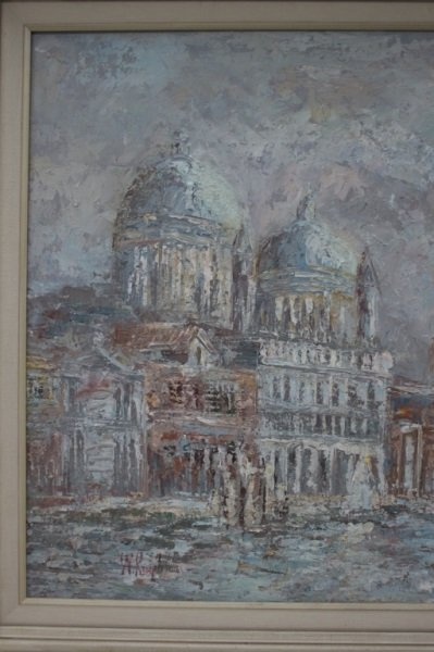 Impressionist Painting of Venice sg W. Knight - 6