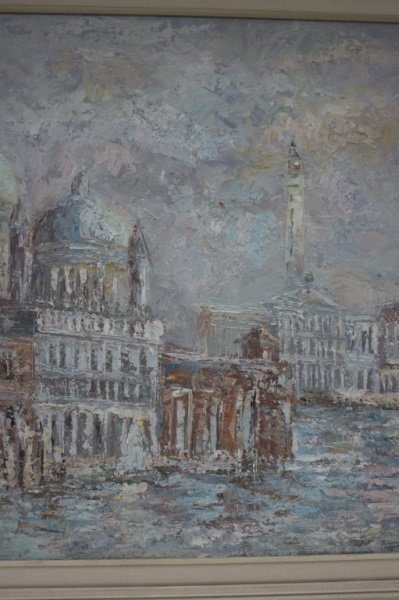 Impressionist Painting of Venice sg W. Knight - 7